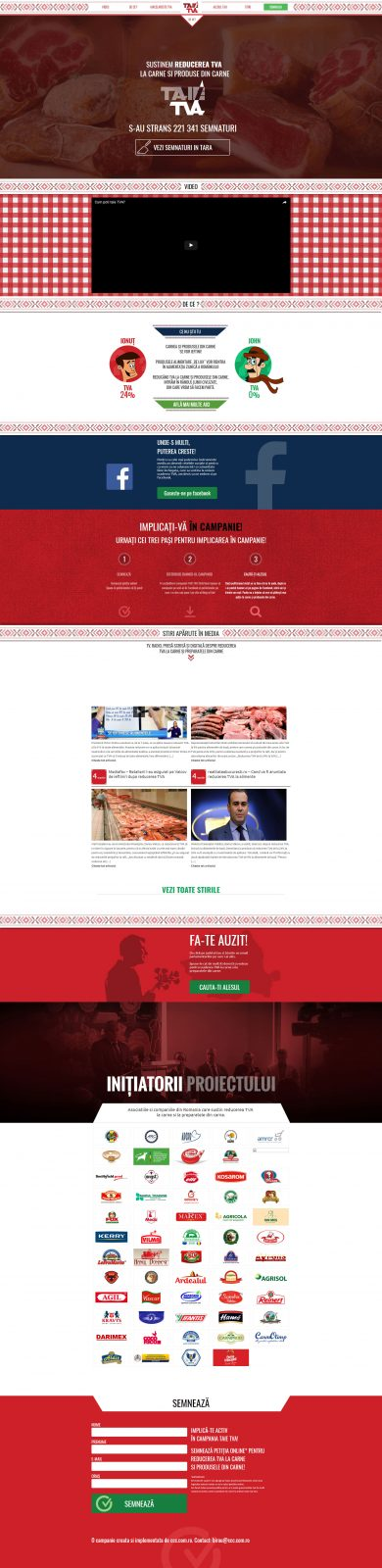 creare site web, web design TaieTVA.ro campanie nationala