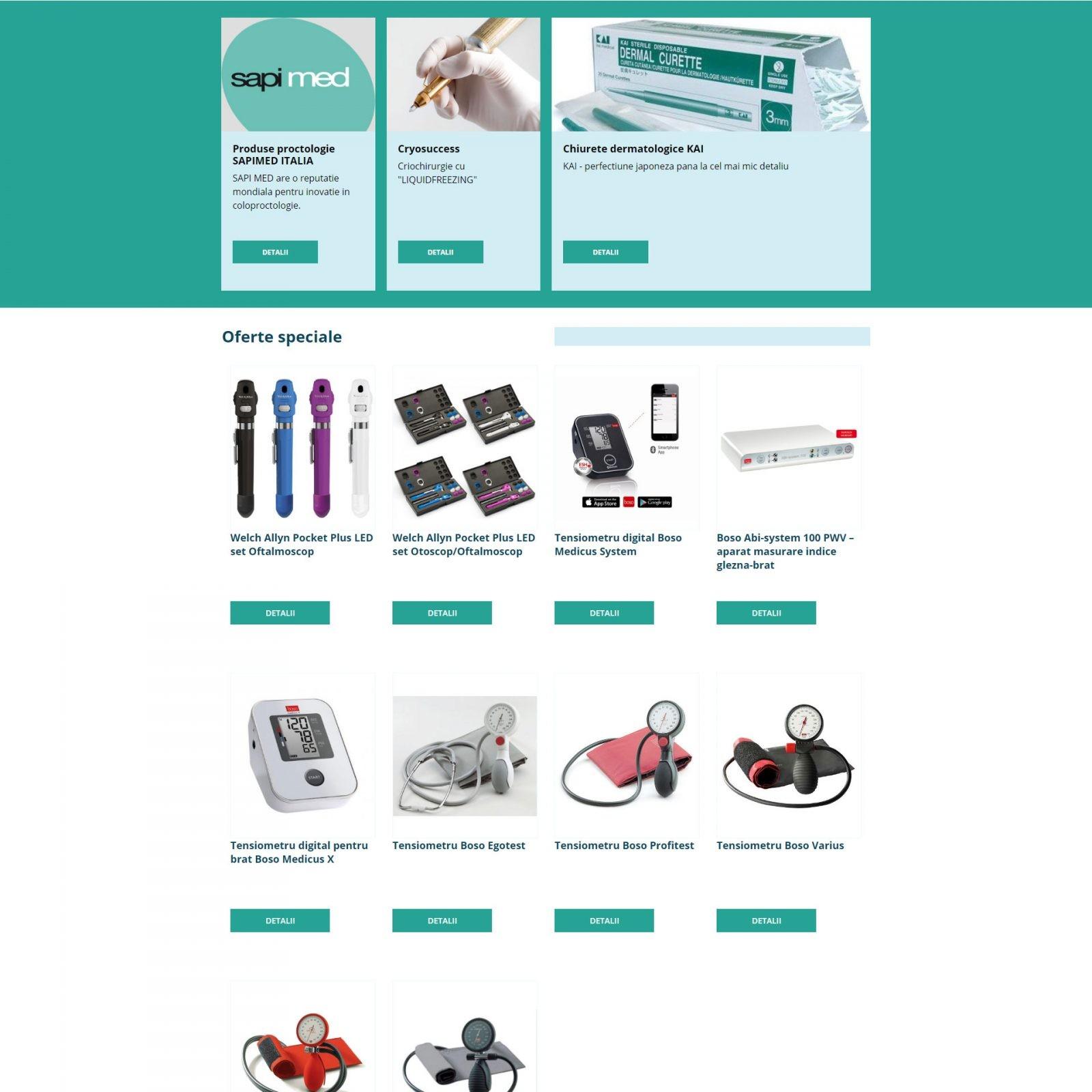 Servicii web design creare magazin online Synergoeurope.ro