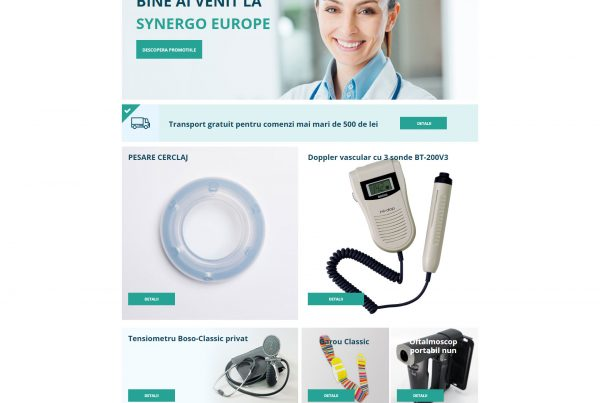 Realizare site web si website de prezentare Synergoeurope.ro