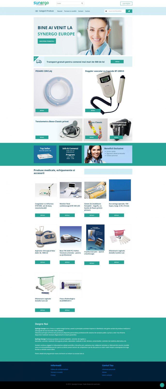 creare site web aparatura medicala servicii webdesign de calitate