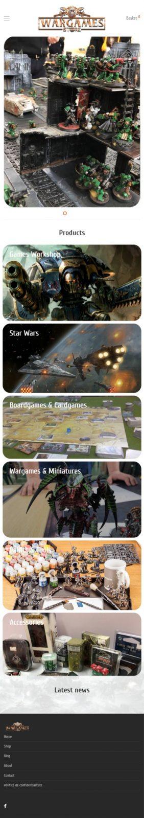 servicii web design creare site web war-games-store.ro client multumit